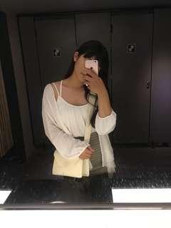 🚚 背心+外套(白)