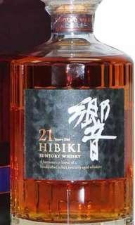響21年威士忌700ml with box,日版。