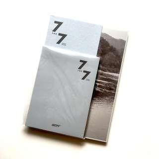 wts got7 7 for 7 present edition cozy version unsealed album with mark lyrics book
