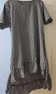 Gingham high low dress uk 12 to 14
