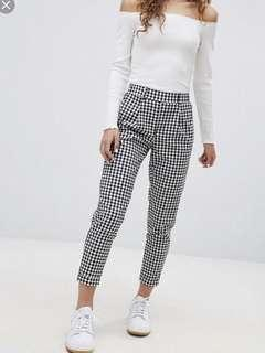 bershka plaid pants