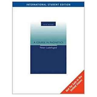 🚚 《A Course in Phonetics》ISBN:1413020798│Heinle & Heinle Pub│Peter Ladefoged│九成新