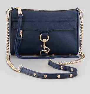 EUC Rebecca Minkoff Mini Mac crossbody bag in midnight blue