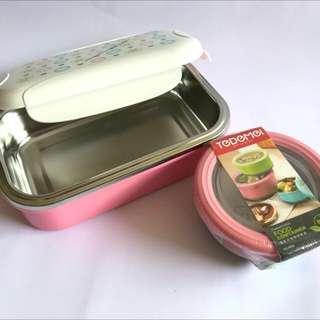 Stainless BNT-I-03P Steel Lunch Box c/w GIFT 220MLBPA Free. Lunch Box Size 20.5cmX13cmXX6.5cm