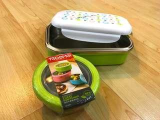 BNT-I-02G Stainless Steel Lunch box c/w Gift 220ML Small Bowl BPAFree Lunch Box Size: 20.5cmx13cmx6.5cm Capacity: 650ml