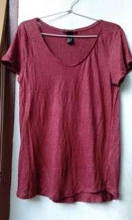 H&m t-shirt maroon