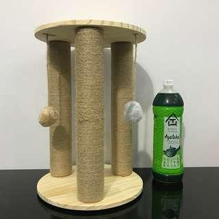 Solid pine scratch post cat kitten toy tree small condo, not carrier bed cage