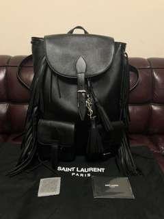 全新saint laurent Paris leather backpack new (原價$15500)