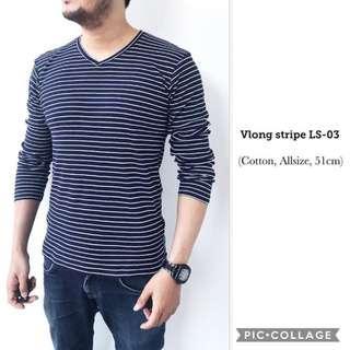 Long stripe T-shirt