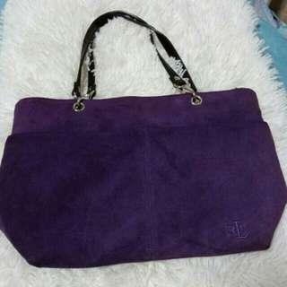 Original rl violet suede bag