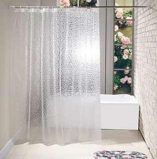 3D EVA Plastic Shower Curtains