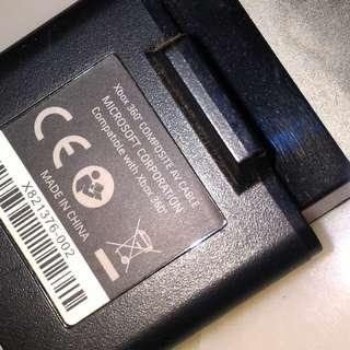 🚚 Used Original Xbox 360 AV Cable vision sound YRW