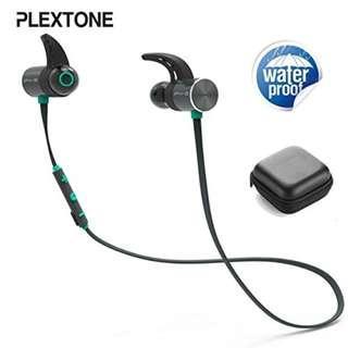 Plextone BX343 Bluetooth Sport Earphones IPX5 Waterproof Wireless Headphone Magnetic Headset With Microphone