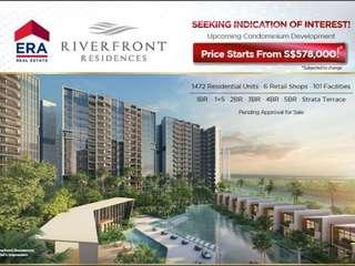 Riverfront Residences 1 bedrm starting from $597k