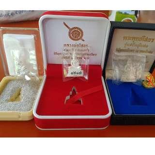 3 Roop Lor Luang Phor Sothorn Wat Sorthon Phra buddha Sothon Chachengsao Sorthorn temple Silver with box