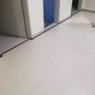 Laminated floor and vinyl tile