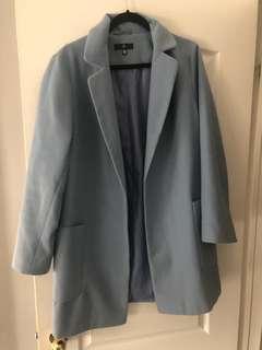 Pale blue Missguided Coat (size 10)
