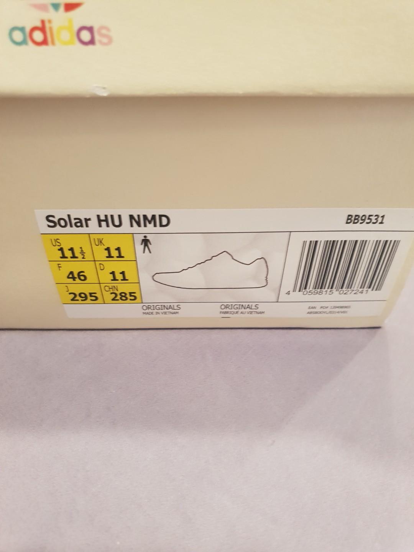 fbe412e21 Adidas 2018 Pharrell Williams Solar HU NMD US11.5 UK11