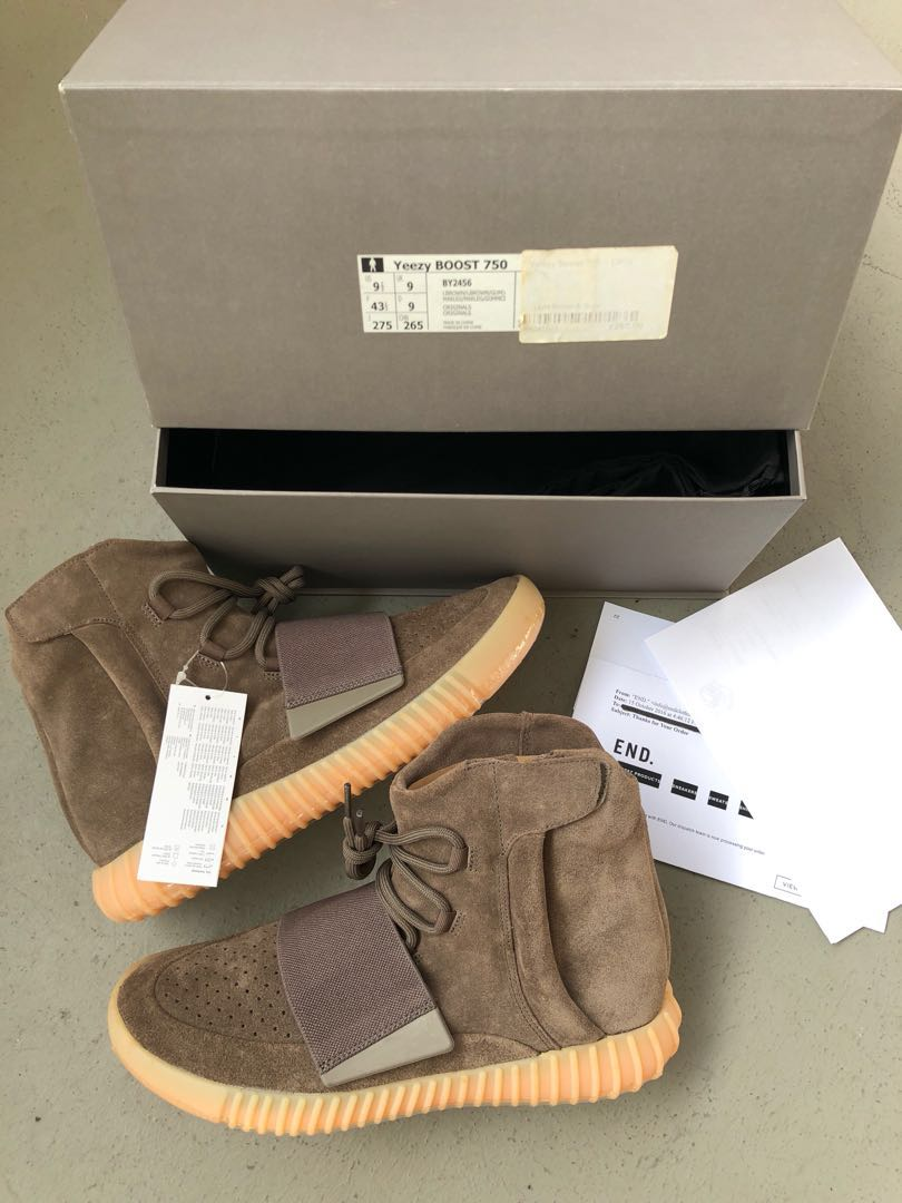 651207d07 Adidas Yeezy Boost 750 Light brown   gums
