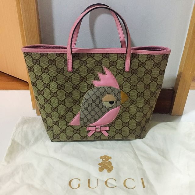 9f115f744 Authentic Gucci Baby Tote Pink, Luxury, Bags & Wallets on Carousell