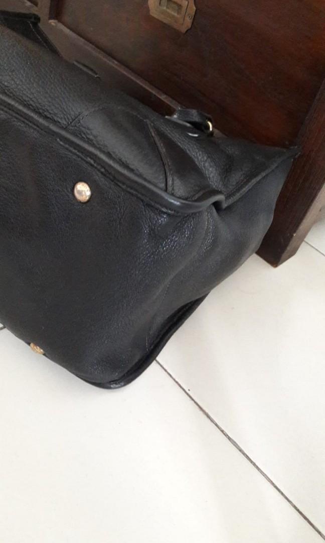 42bcb51bb7a5 Authentic Prada large black leather bag