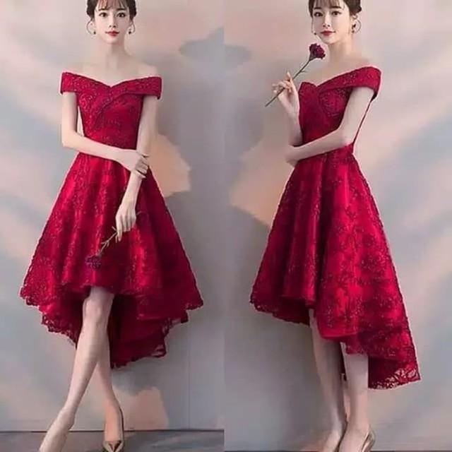 Baju Pesta Gaun Pesta Merah Women S Fashion Women S Clothes On