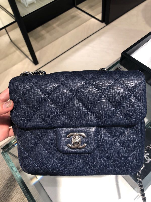 d92086a3e42510 BNIB*Chanel Small Flap Bag (2018 Collection) Brand new in box Navy ...