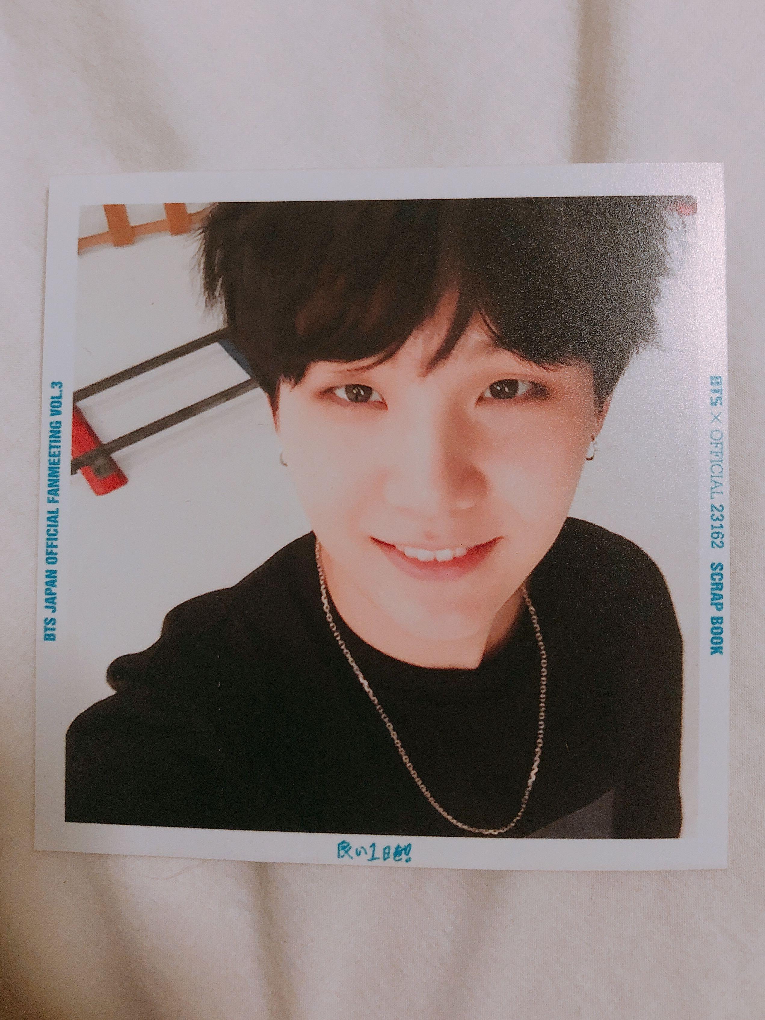 BTS Suga Japan Fanmeeting Volume 3 Photocard