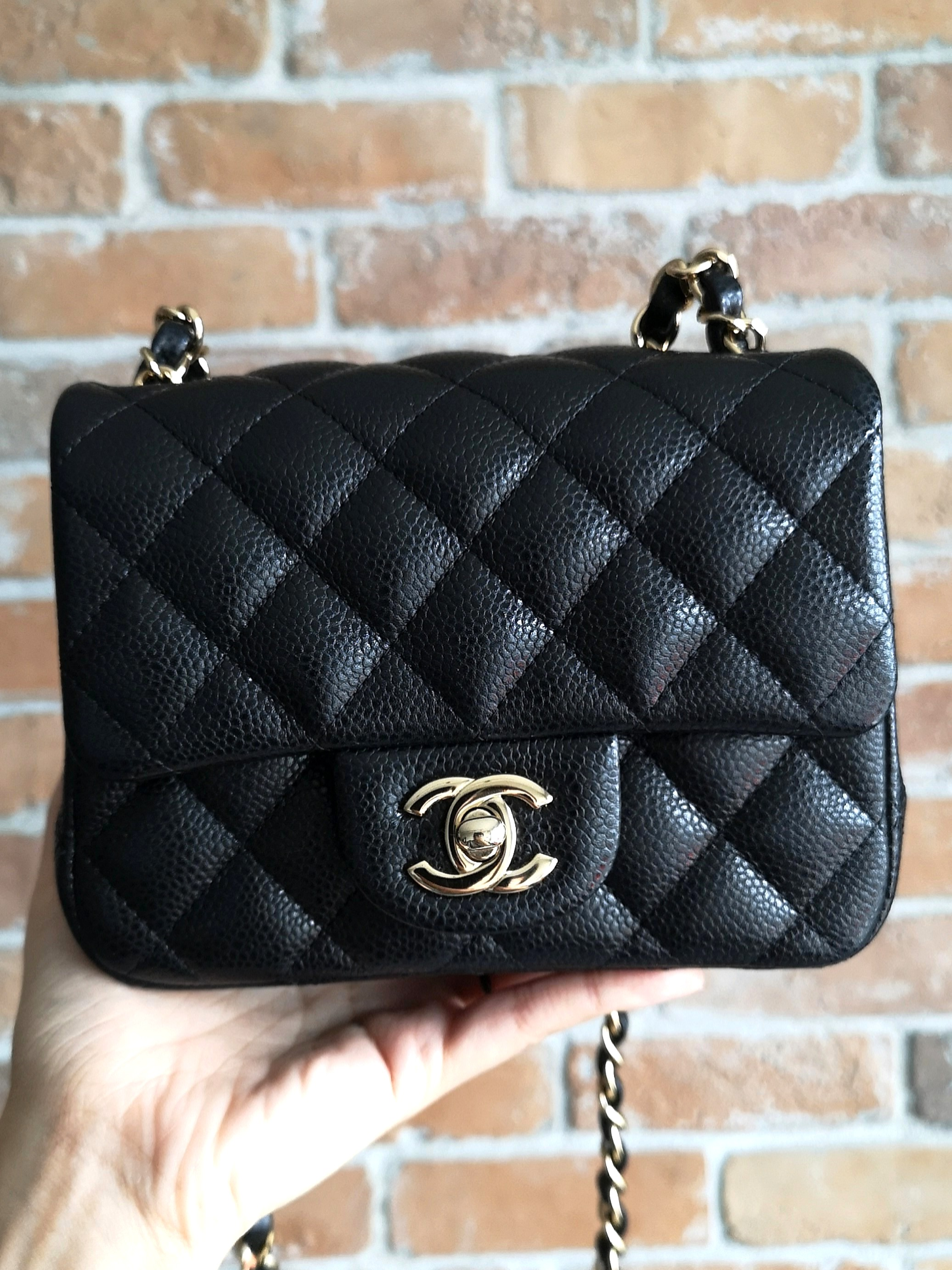 27a8f00f9247 Chanel Square Mini Light Gold Hardware, Luxury, Bags & Wallets, Handbags on  Carousell