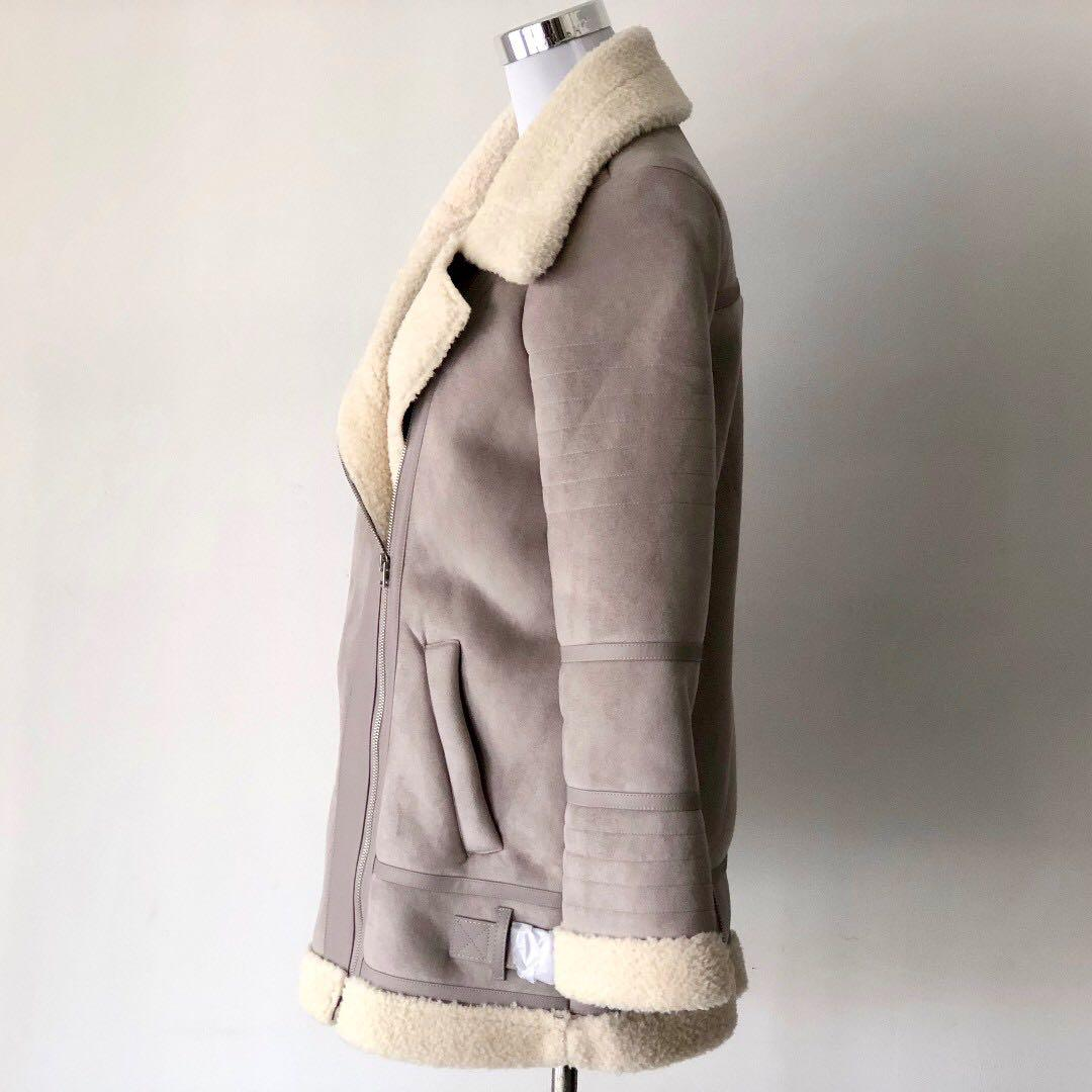DECJUBA Petra Shearling Coat Size 10 - Brand New with Tags