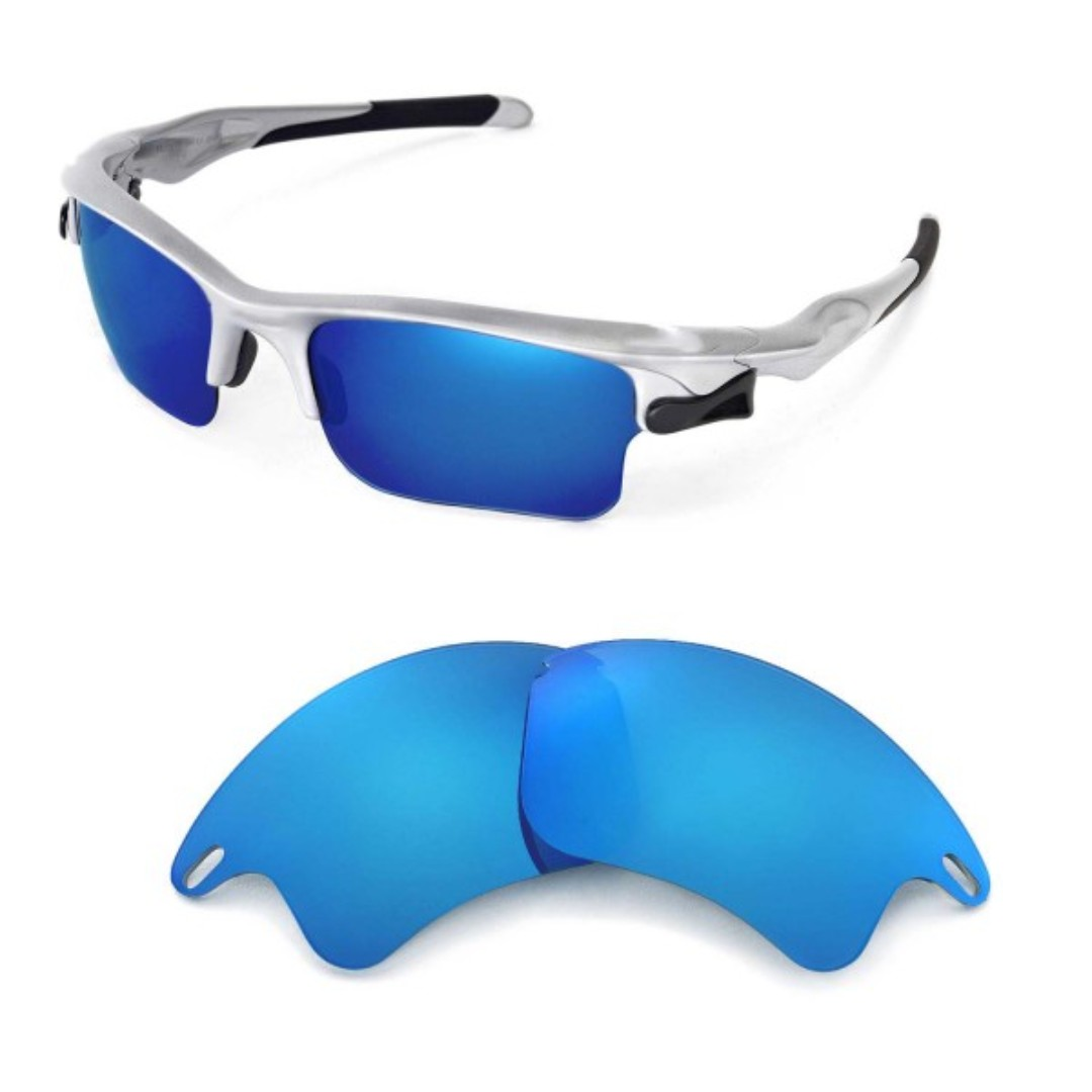 b96a550801 Fast Jacket Ice Blue POLARIZED Walleva Replacement XL Lenses for ...