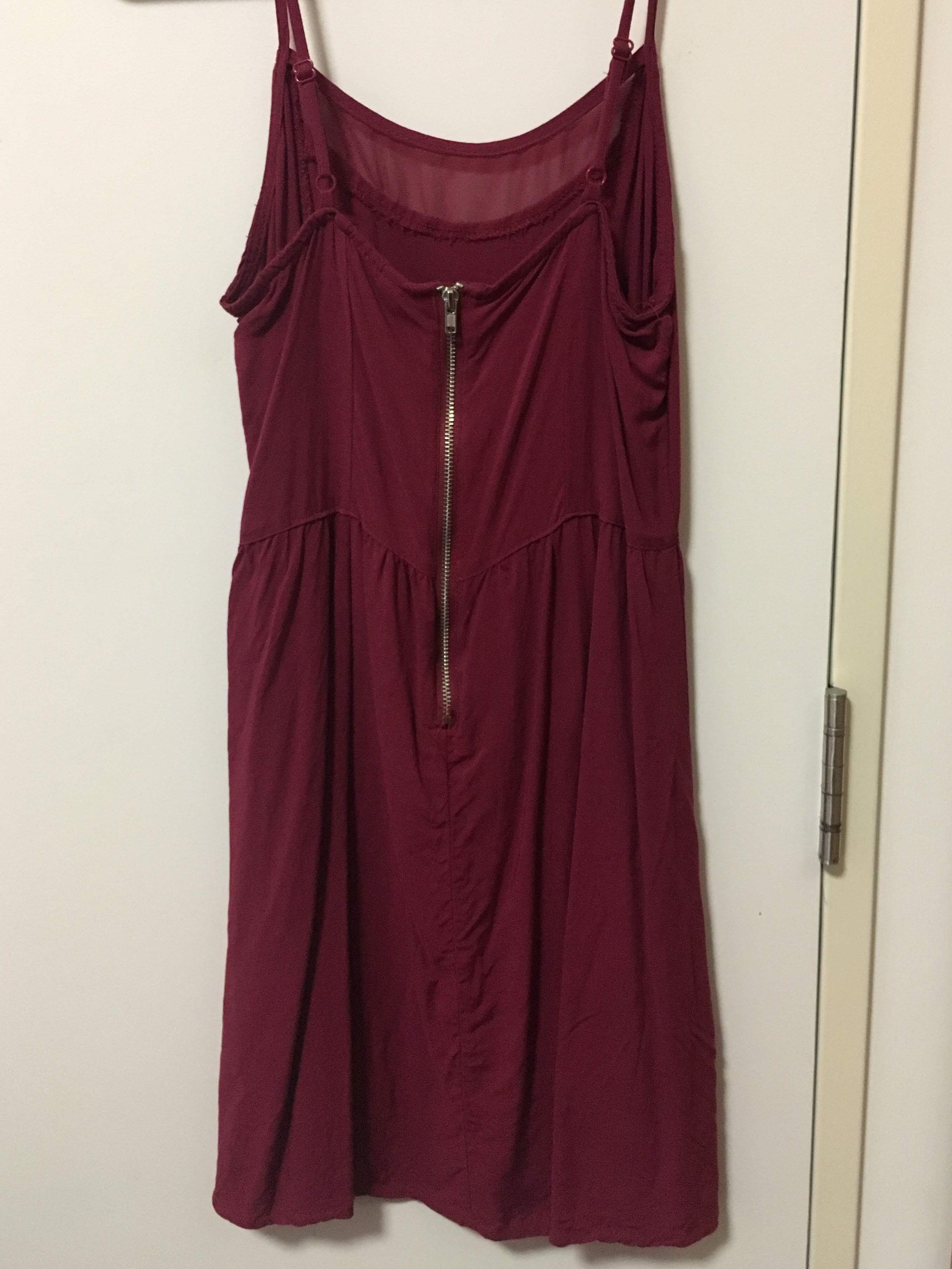 H&M maroon thin strap dress