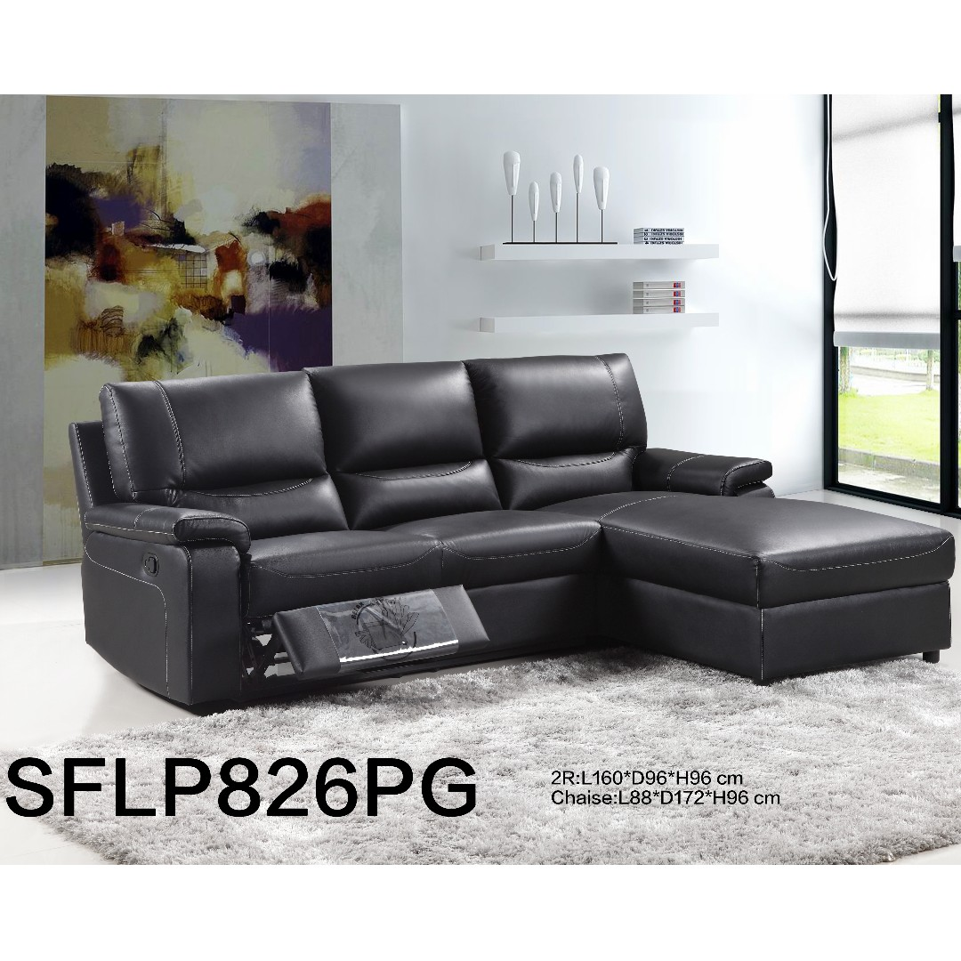 Leather Electric Recliner Sofa W Pocket Spring Cushion