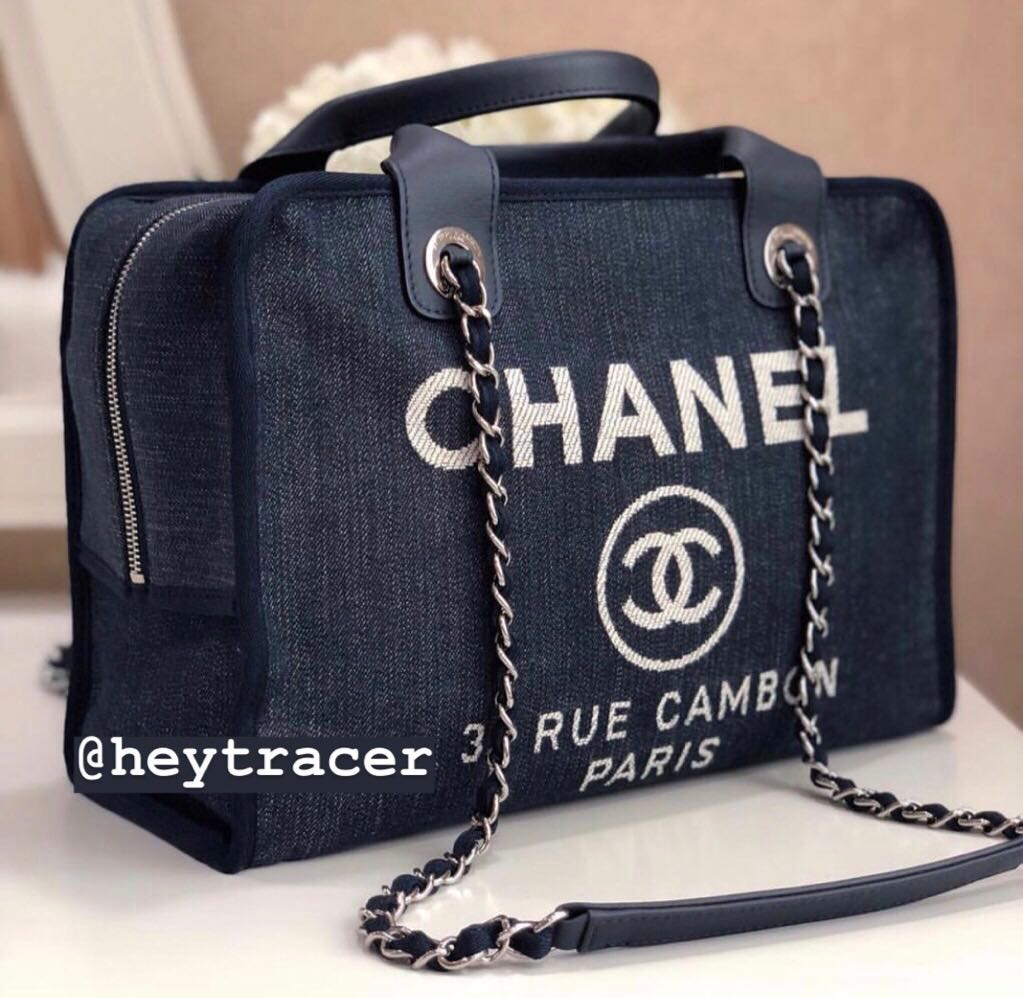 fc97bf335d34 🔺️REDUCED🔺 LN Chanel Deauville Denim Bowler Bag with SHW ...
