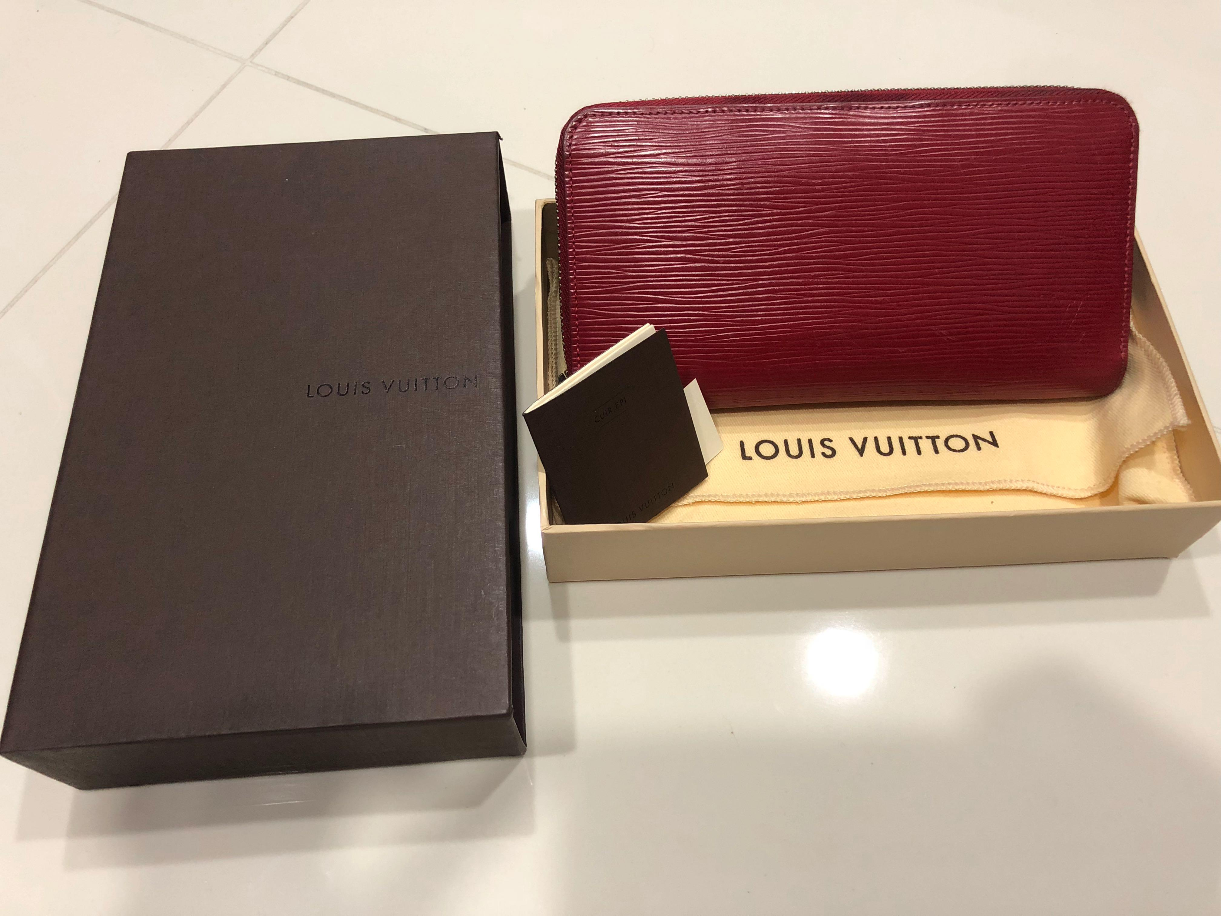 Lv Louis Vuitton Epi Leather Zippy Wallet Women S Fashion Bags Wallets Wallets On Carousell