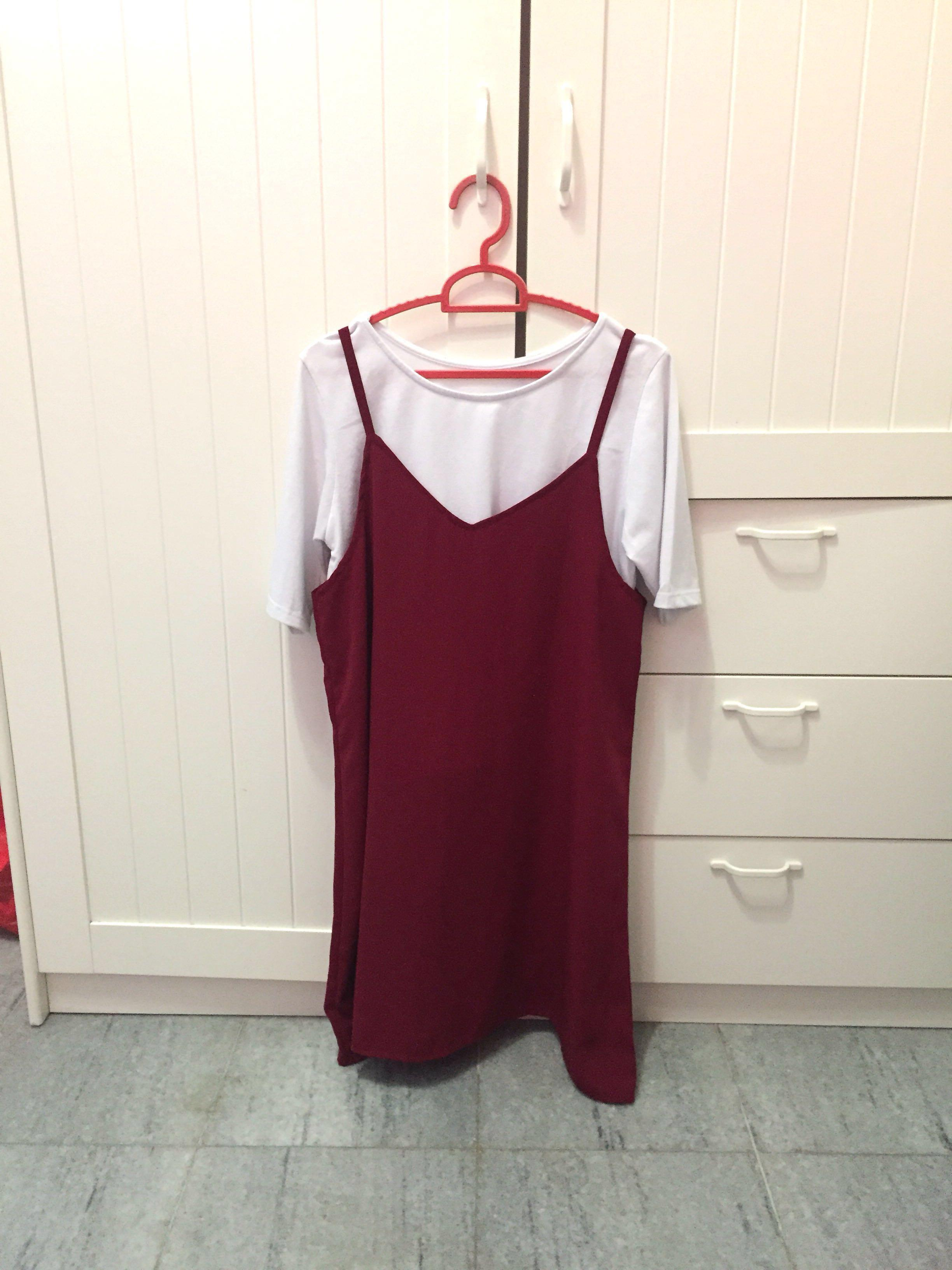 Maroon Overall Set (outer+inner)