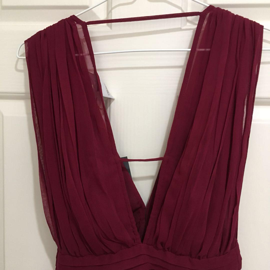 NEW ASOS petite maroon dress