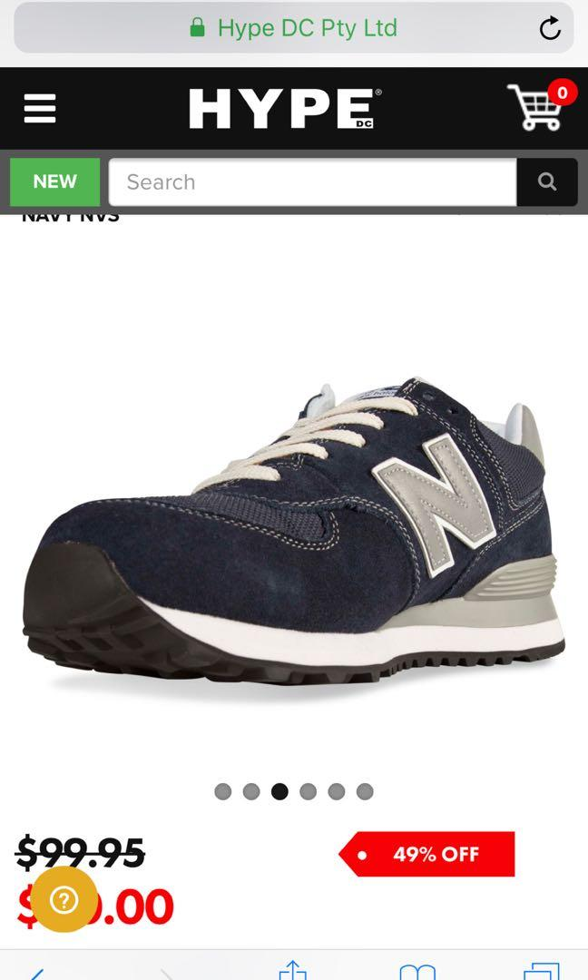 New balance classic navy 574 sneaker
