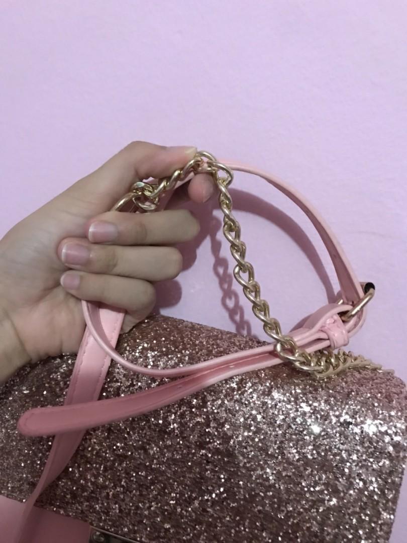 New pink gold blink bag