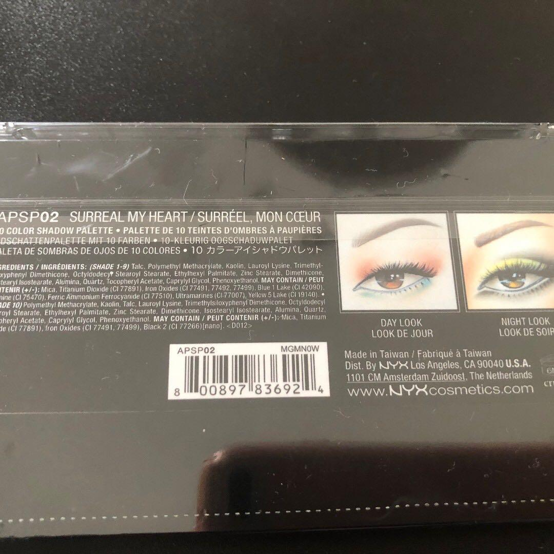 NYX Avant Pop! Shadow Palette Surreal My Heart - Brand New in Packaging Current in Priceline for $34.95