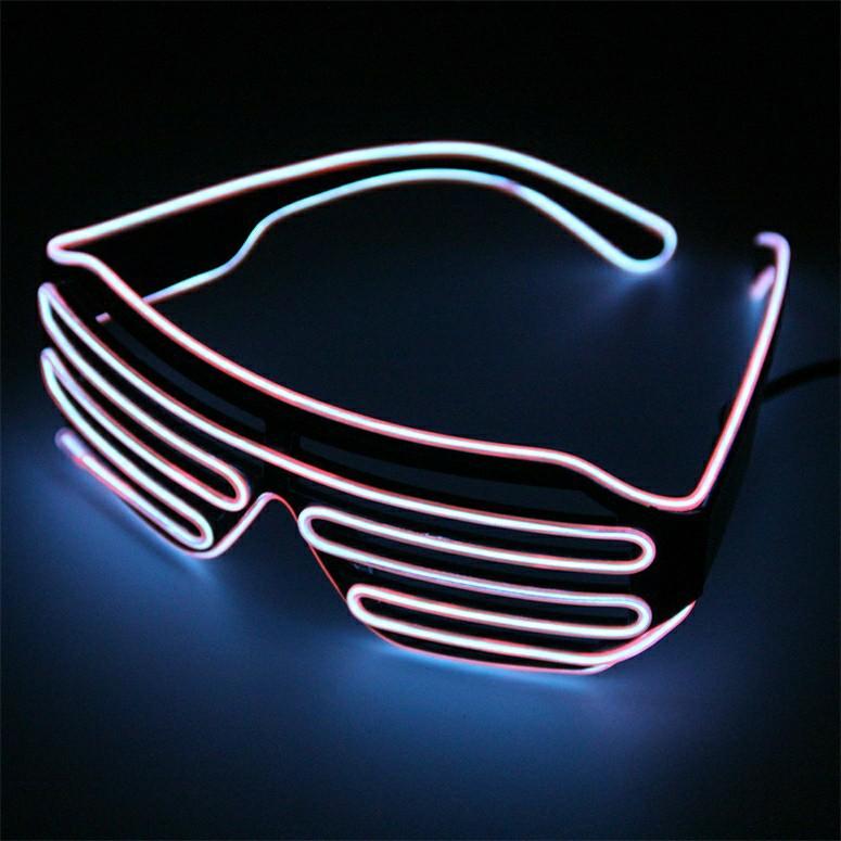 5e28db174f9f Plastic led glasses light up shades flashing rave party glasses ...