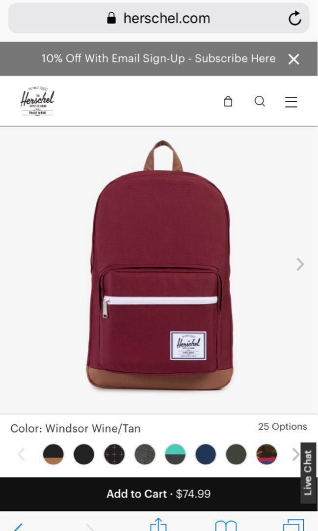 1d66c2f722c5 Pop quiz Herschel Backpack