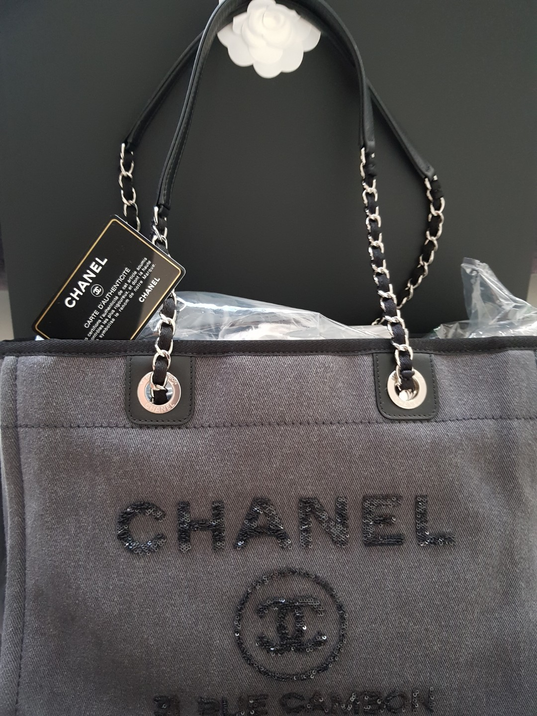 85f64a5046f3af Popular* Chanel Deauville Tote, Luxury, Bags & Wallets, Handbags on ...