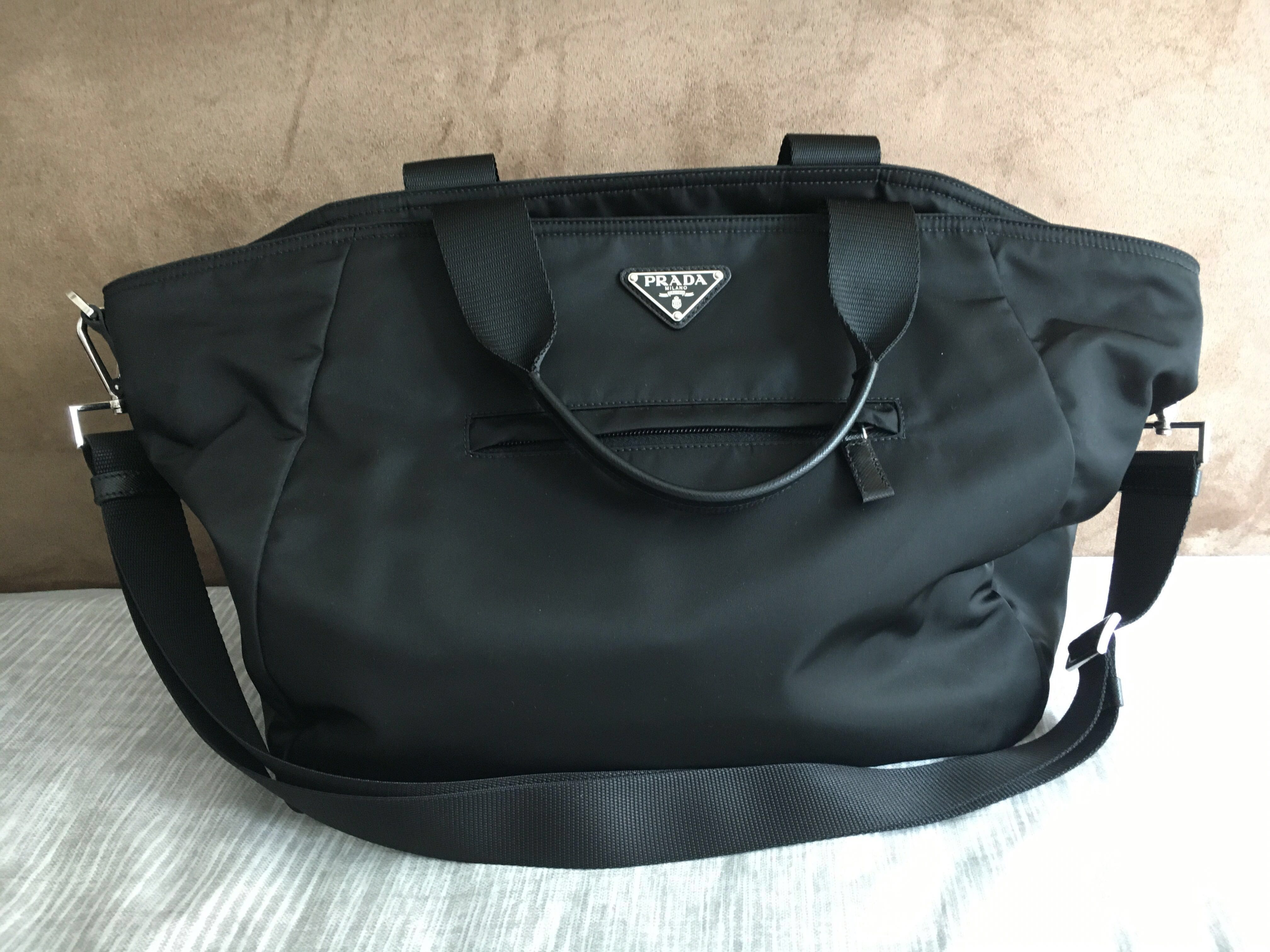 c1014faf0aa ... promo code for prada vela nylon tote bag womens fashion womens bags  wallets on carousell 12061 reduced luxury accessoriesbags prada black ...