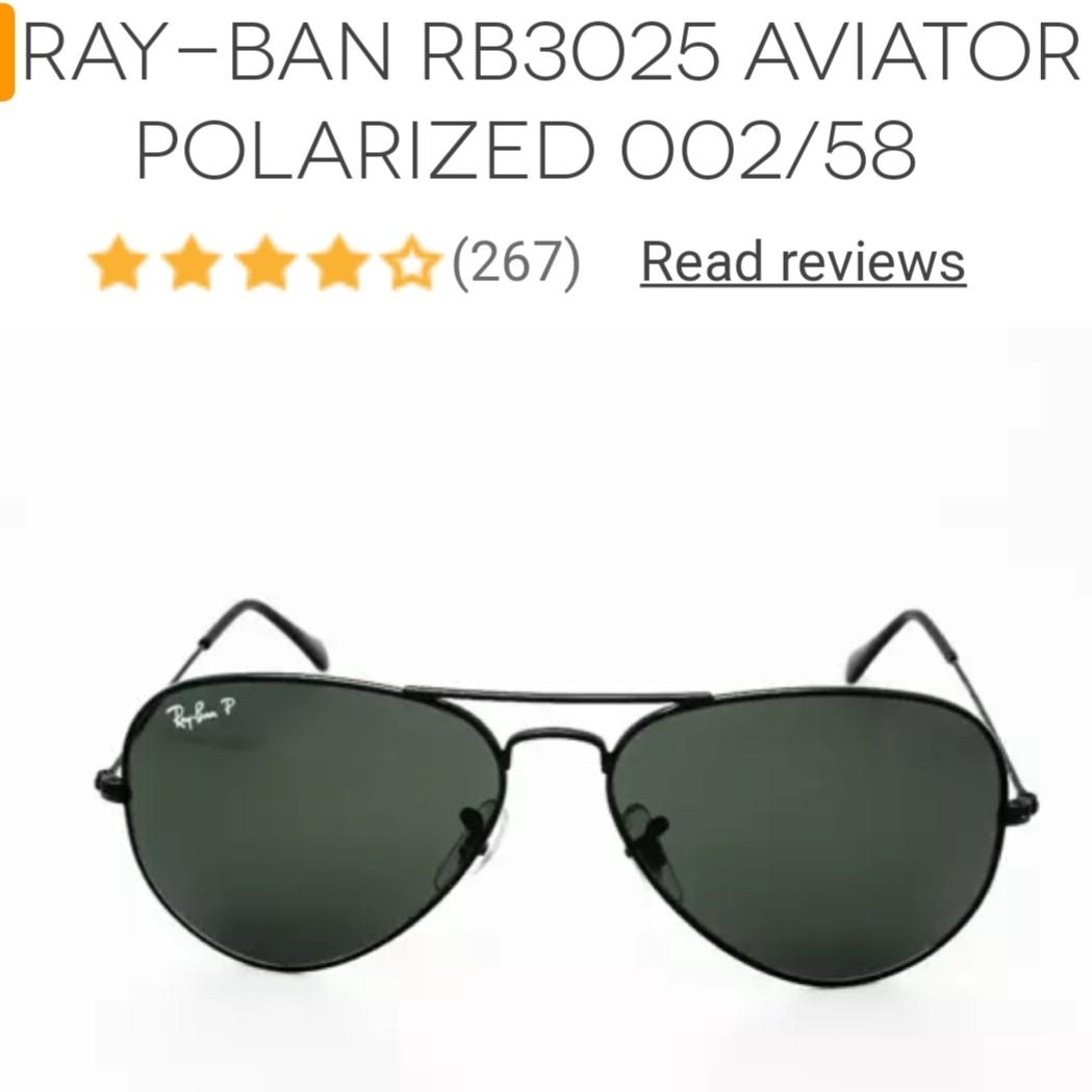 bd4789ddc882d Ray-ban RB3025 Aviator Polarised 002 58
