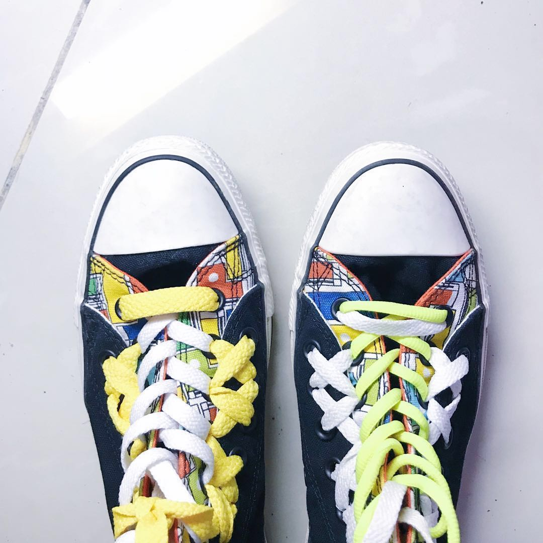 REPRICE ORIGINAL Converse All Star Chuck Taylor Double Upper High (limited  edition) ORIGINAL sepatu wanita pria Unisex 6fccd17286