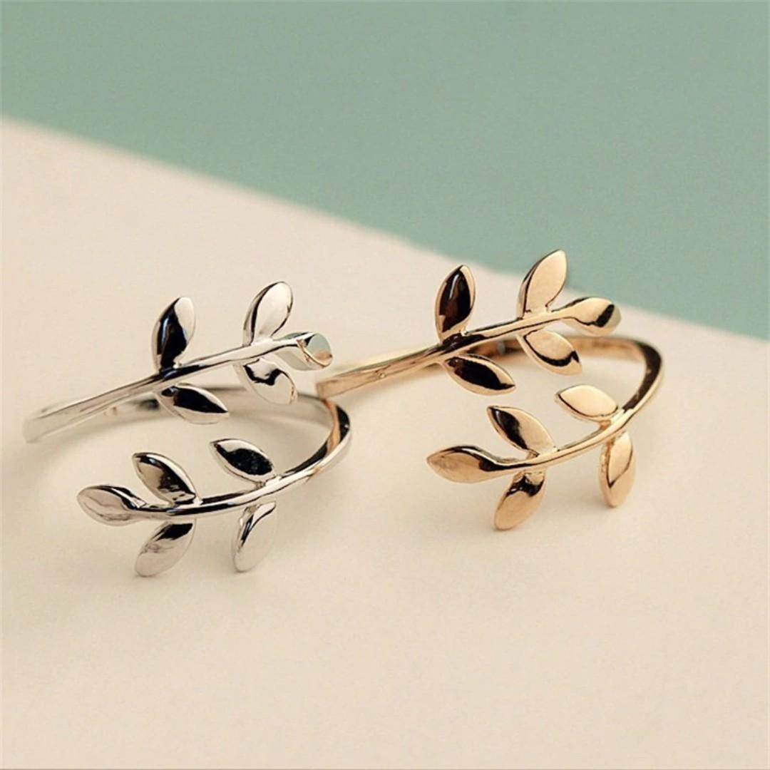 Po Olive Tree Branch Ring Women S Fashion Jewellery Rings On Carousell