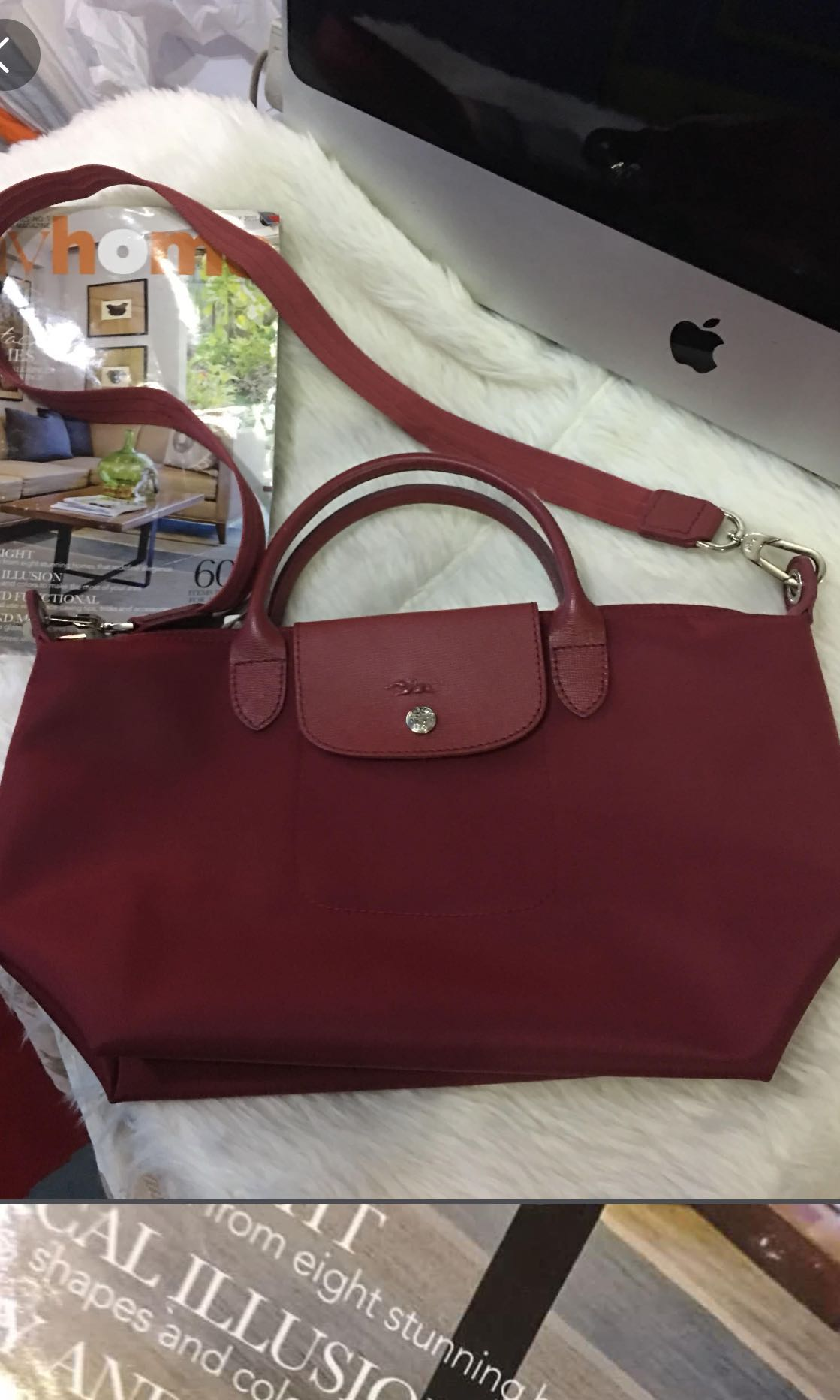 f457b621c5a Sale‼️Authentic longchamp Neo maroon small , Women's Fashion, Bags ...