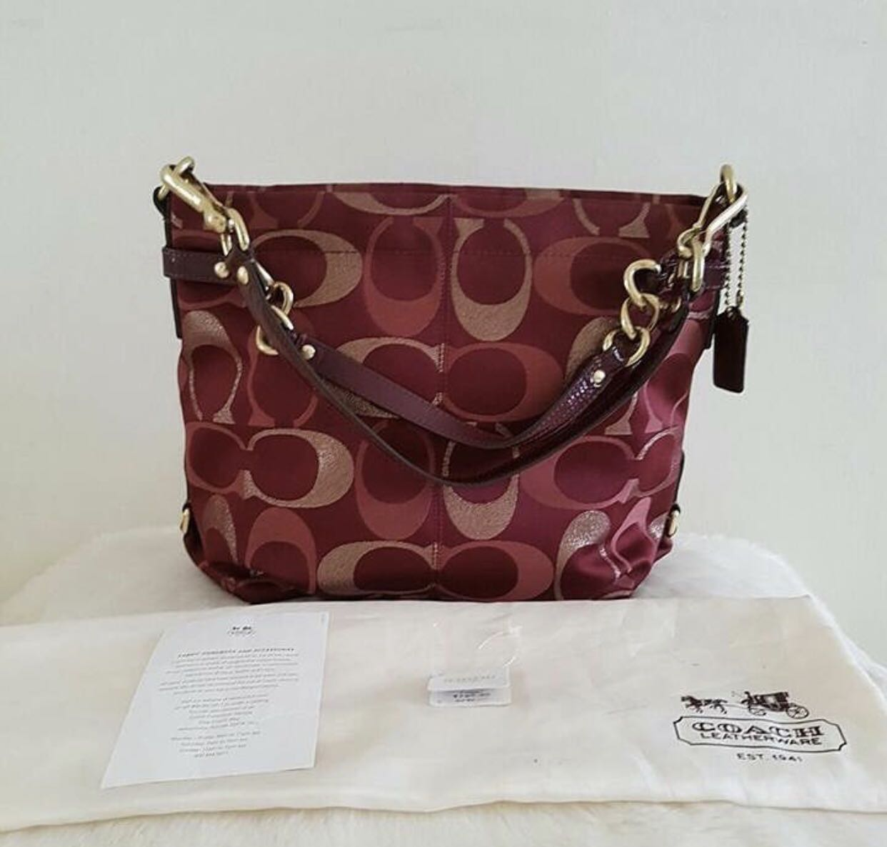 Second COACH Brooke 3 colour sig Red with tag n db 9eec8e0662