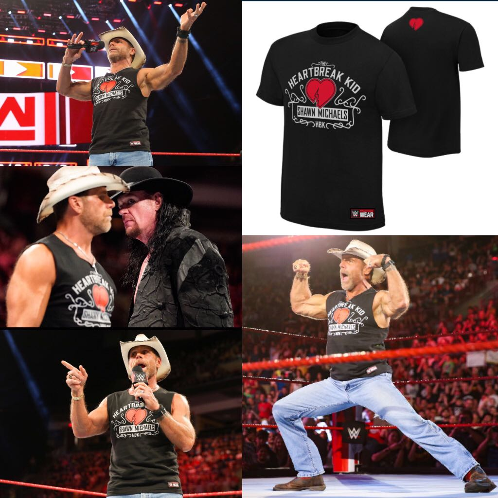 "d2c72e2f0 Shawn Michaels ""The HeartBreak Kid"" WWE Authentic Tee Shirt, Bulletin  Board, Preorders on Carousell"